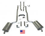 E20210 EXHAUST SYSTEM-DELUXE-2.5 INCH-SMALL BLOCK-MANUAL-WELDED MUFFLER-64-65