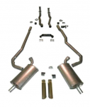 E20212 EXHAUST SYSTEM-DELUXE-2 TO 2.5 INCH-SMALL BLOCK-MANUAL-68-69