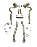 E20214 EXHAUST SYSTEM-DELUXE-2 TO 2.5 INCH-SMALL BLOCK-AUTOMATIC-68-69