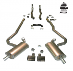 E20213 EXHAUST SYSTEM-DELUXE-2 TO 2.5 INCH-SMALL BLOCK-MANUAL-70-72