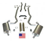E20216 EXHAUST SYSTEM-DELUXE-2.5 INCH-BIG BLOCK-427-MANUAL-68