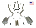 E20218 EXHAUST SYSTEM-DELUXE-2 TO 2.5 INCH-SMALL BLOCK-MANUAL-WELDED MUFFLER-68-69