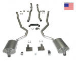E20221 EXHAUST SYSTEM-DELUXE-2 TO 2.5 INCH-SMALL BLOCK-AUTOMATIC-WELDED MUFFLER-70-72