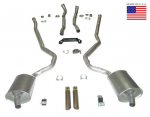 E20222 EXHAUST SYSTEM-DELUXE-2 INCH-SMALL BLOCK-MANUAL-WELDED MUFFLER-69