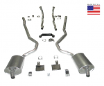 E20223 EXHAUST SYSTEM-DELUXE-2 INCH-SMALL BLOCK-MANUAL-WELDED MUFFLER-70-72
