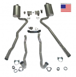 E20225 EXHAUST SYSTEM-DELUXE-2 INCH-SMALL BLOCK-AUTOMATIC-WELDED MUFFLER-70-72