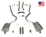 E20227 EXHAUST SYSTEM-DELUXE-2.5 INCH-BIG BLOCK-427-AUTOMATIC-WELDED MUFFLER-68