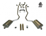 E20228 EXHAUST SYSTEM-DELUXE-2.5 TO 2 INCH-BIG BLOCK-427-AUTOMATIC-WELDED MUFFLER-69