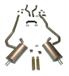 E20234 EXHAUST SYSTEM-DELUXE-2.5 TO 2 INCH-BIG BLOCK-427-AUTOMATIC-69