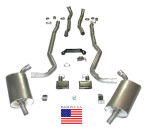 E20235 EXHAUST SYSTEM-DELUXE-2.5 INCH-BIG BLOCK-454-MANUAL-70-72