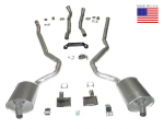 E20236 EXHAUST SYSTEM-DELUXE-2.5 INCH-BIG BLOCK-454-MANUAL-WELDED MUFFLER-70-72