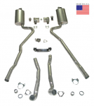 E20238 EXHAUST SYSTEM-DELUXE-2.5 INCH-BIG BLOCK-454-AUTOMATIC-WELDED MUFFLER-70-72