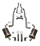 E20270 EXHAUST SYSTEM-MAGNAFLOW-DELUXE-2.5 INCH-SMALL BLOCK-327-MANUAL-64-65