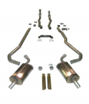 E20297 EXHAUST SYSTEM-MAGNAFLOW-DELUXE-2 TO 2.5 INCH-SMALL BLOCK-327/350-MANUAL-68-69