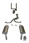 E20306 EXHAUST SYSTEM-ALUMINIZED-STOCK-2.5 INCH-HIDEAWAY-WITH CONVERTER-82