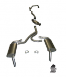 E20319 EXHAUST SYSTEM-ALUMINIZED-STOCK-2.25 INCH-HIDEAWAY-WITH CONVERTER-75