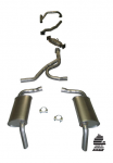 E20324 EXHAUST SYSTEM-ALUMINIZED-STOCK-2.25 INCH-HIDEAWAY-WITH CONVERTER-W/OUT A.I.R.-75-76