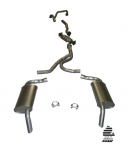 E20323 EXHAUST SYSTEM-ALUMINIZED-STOCK-2.25 INCH-HIDEAWAY-WITH CONVERTER-WITH A.I.R.-76