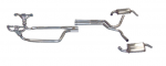 E20348 EXHAUST SYSTEM-DUAL-HEADERS AND MAGNAFLOW MUFFLERS-80-81
