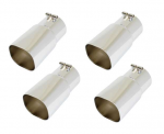 E20395 EXHAUST TIPS-STAINLESS STEEL-ZR1 STYLE-SET OF 4-85-91