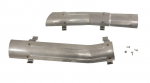 E20422 HEAT SHIELD-EXHAUST PIPE-2.5 INCH-STAINLESS STEEL-PAIR-66-67