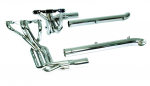 E20509 EXHAUST SYSTEM-SIDE-DOUG'S HEADERS-CHROME-SMALL BLOCK-4 INCH SIDE TUBES-63-82