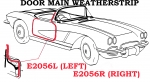 E2056L WEATHERSTRIP-DOOR MAIN-USA-LEFT-56-58