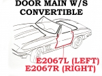 E2067L WEATHERSTRIP-DOOR MAIN-CONVERTIBLE-USA-LEFT-63-67
