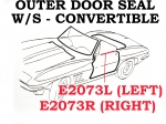 E2073L WEATHERSTRIP-OUTER DOOR SEAL-CONVERTIBLE-USA-LEFT-63-67