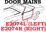 E2074L WEATHERSTRIP-DOOR MAIN-CONVERTIBLE-USA-LEFT-69-75