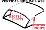 E2078R WEATHERSTRIP-HARDTOP-SIDE RAIL VERTICAL-USA-RIGHT-56-62