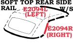 E2094L WEATHERSTRIP-SOFT TOP-REAR SIDE RAIL-USA-LEFT-56-62