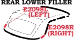 E2098R WEATHERSTRIP-SOFT TOP-REAR LOWER FILLER-USA-RIGHT-61-62