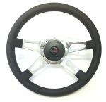 E20995 WHEEL-STEERING-BLACK LEATHER-4 SPOKE-84-89
