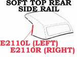E2110R WEATHERSTRIP-SOFT TOP-REAR SIDE RAIL-USA-RIGHT-68-75