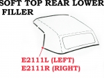 E2111L WEATHERSTRIP-SOFT TOP-REAR LOWER FILLER-USA-LEFT-68-75