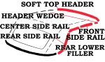 E2113 WEATHERSTRIP KIT-SOFT TOP-USA-11 PIECES-56-58