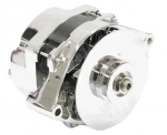 E21139 ALTERNATOR-CHROME-140 AMP-WITH TURBO FAN-69-82