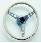 E21152 WHEEL-STEERING-15 INCH LEATHER WRAPPED (CUSTOMER SUPPLIED)-INCLUDES HUB-56-62