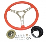 E21151 WHEEL-STEERING-15 INCH LEATHER WRAPPED-INCLUDES HUB-56-62