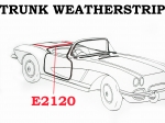 E2120 WEATHERSTRIP-TRUNK-USA-53-58