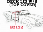 E2122 WEATHERSTRIP-TOP COVER (DECK LID)-USA-59-60