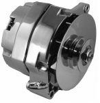 E21260 ALTERNATOR-CHROME-100 AMP-65-68