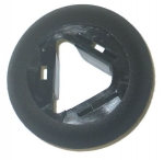 E21363 BEZEL-SUNVISOR ROD-BLACK-IN WINDSHIELD HEADER-LEFT-97-04