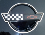 E21417 Emblem-Trim Ring-Front and Rear-Polished-USA MADE-2 pieces-84-90