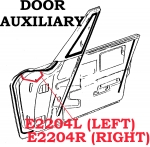 E2204R WEATHERSTRIP-DOOR AUXILIARY-USA-RIGHT-64-67