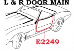 E2249 WEATHERSTRIP-DOOR MAIN-COUPE AND CONVERTIBLE-USA-PAIR-68