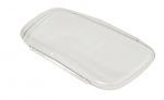E22593 COVER-FRONT LICENSE PLATE-CLEAR-CONTOURED-97-04