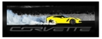 E22816 PRINT-FRAMED-CORVETTE Z06 BURNOUT-14-19