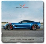 E22870 7TH GENERATION CORVETTE STONE  TILE COASTER-53-19